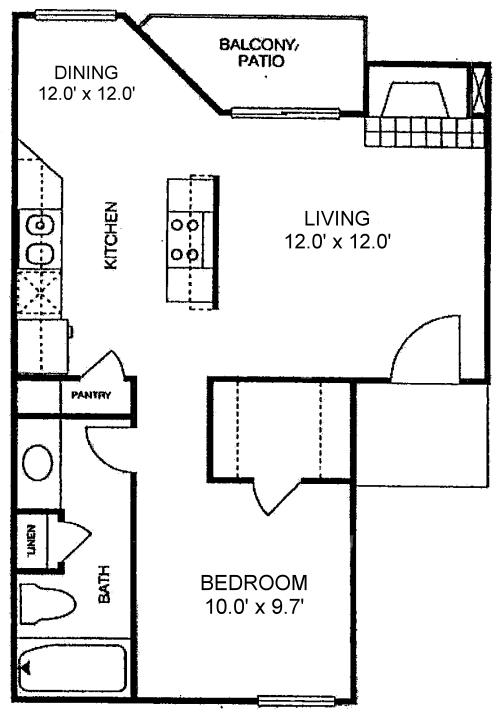 Bayview - 540 sq. ft.